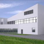 Projekt architektoniczny, budowlany dużej szkoły, hali, budynku