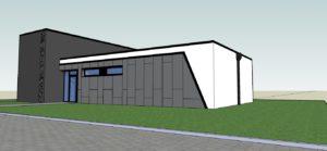Wizualizacja projekt budynek usługowy